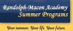 Randolph-Macon Academy Academic Summer Camp